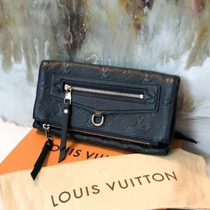 Louis Vuitton Navy Empreinte Petillante Clutch
